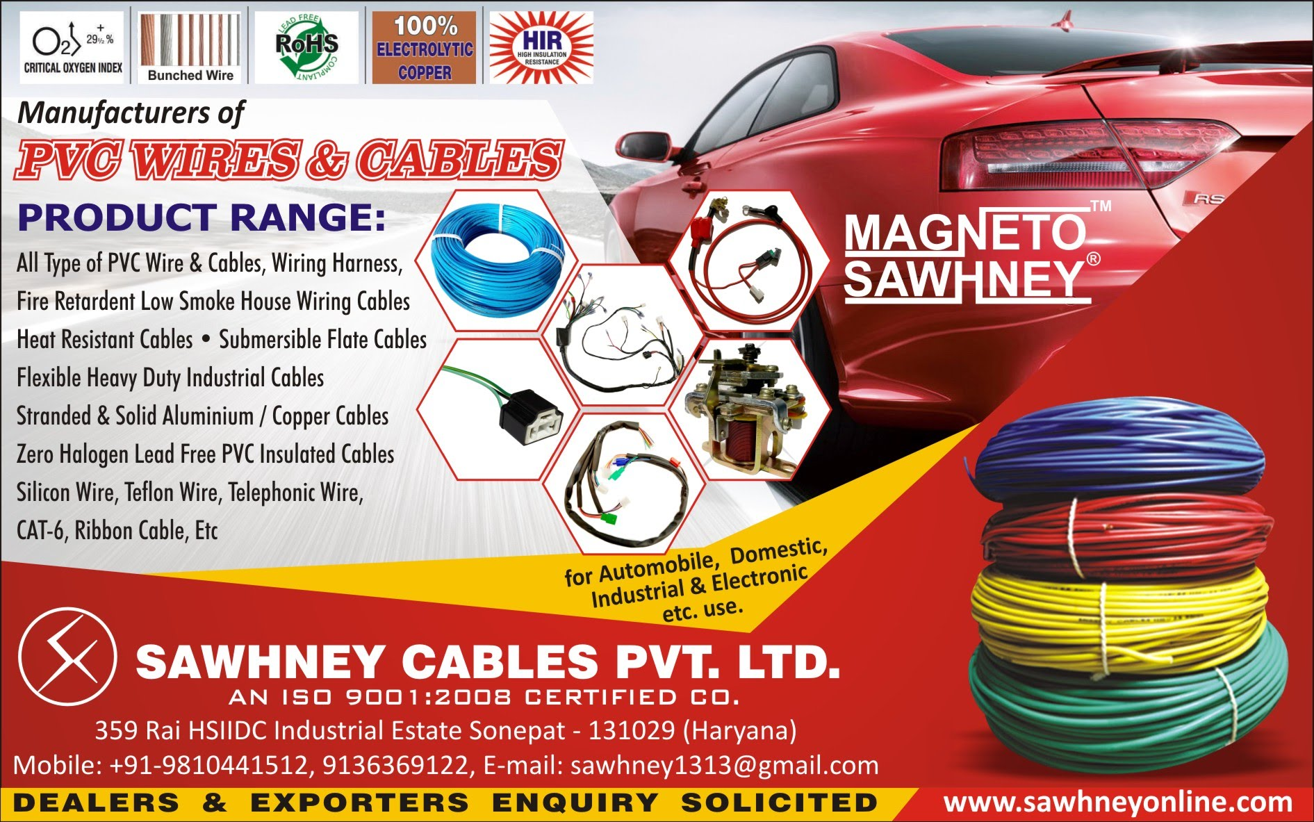Products All Kinds Of Pvc Wires Cables Wiring Harness Product From Procuring Raw Materials And Manufacturing To The Finishing We Take Care Necessary Steps