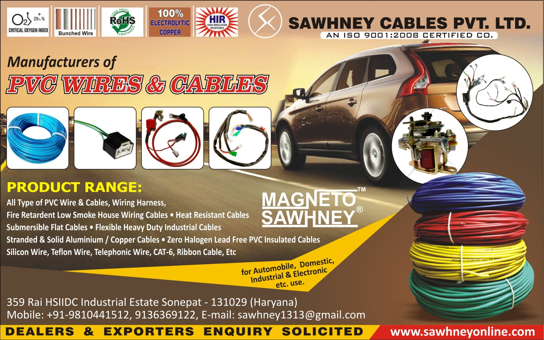 All Kinds Of Pvc Wires Cables Wiring Harness Electrical Auto Manufacturers India 919136369122